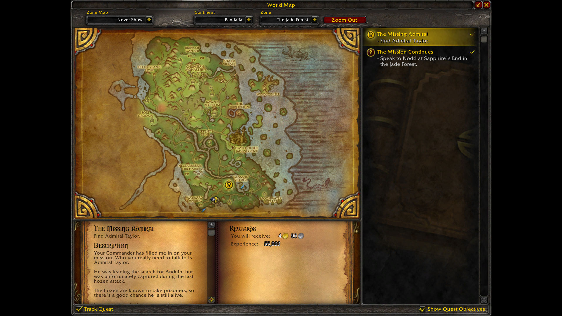 Questing In Pandaria Level 85 90 Dugi Guides