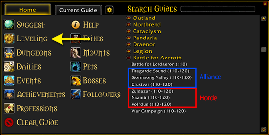 dugi leveling guide